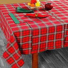 Homescapes Weihnachtliche Tischdecke Edward Tartan