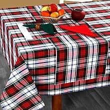 Homescapes Weihnachtliche Tischdecke MacDuff