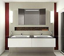 Homespiegel Klappspiegel - Kipschalter unten mittig- LED beleuchtet - KLP010 - , B/H: 40x90 cm