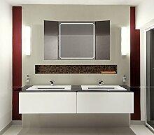 Homespiegel Klappspiegel - Kipschalter unten mittig- LED beleuchtet - KLP011 - , B/H: 60x90 cm