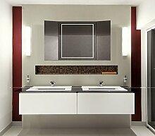 Homespiegel Klappspiegel - Kipschalter unten mittig- LED beleuchtet - KLP005 - , B/H: 70x100 cm