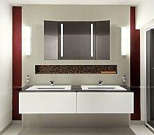 Homespiegel Klappspiegel - Kipschalter unten mittig- LED beleuchtet - KLP001 - , B/H: 60x100 cm