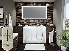 Homespiegel mit LED Beleuchtung - Badspiegel mit Fernbedienung - Slia HRL86P - , B/H: 130x90 cm