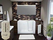 Homespiegel mit LED Beleuchtung - Badspiegel mit Fernbedienung - Unique O1LGA - , B/H: 90x40 cm