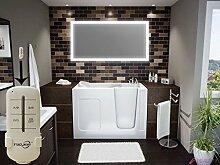 Homespiegel mit LED Beleuchtung - Badspiegel mit Fernbedienung - Mimoza HRL66P - , B/H: 90x60 cm