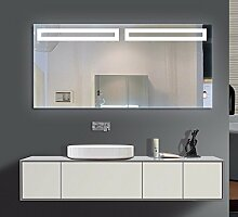 Homespiegel mit LED Beleuchtung - Bonn O2LNA - , B/H: 130x60 cm