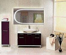 Homespiegel mit LED Beleuchtung - Irsensor unten mittig - Adave HRL100P - , B/H: 100x80 cm