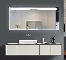 Homespiegel mit LED Beleuchtung - Irsensor unten mittig - Ascona O3LHA - , B/H: 80x100 cm
