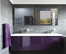 Homespiegel mit LED Beleuchtung - Kipschalter unten mittig - Aige HL013B - , B/H: 150x70 cm