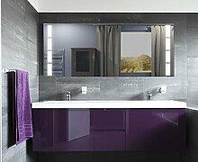 Homespiegel mit LED Beleuchtung - Kipschalter unten mittig - Gavie HL029B - , B/H: 170x70 cm