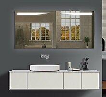 Homespiegel mit LED Beleuchtung - Kipschalter unten mittig - Gusch O2LKA - , B/H: 80x50 cm