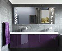Homespiegel mit LED Beleuchtung - Kipschalter unten mittig - Idee HL035B - , B/H: 160x90 cm