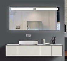 Homespiegel mit LED Beleuchtung - Kipschalter unten mittig - Jeu O2LFA - , B/H: 170x90 cm
