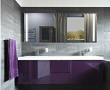 Homespiegel mit LED Beleuchtung - Kipschalter unten mittig - Wiad HL042B - , B/H: 100x50 cm
