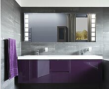 Homespiegel mit LED Beleuchtung - Mallie HL047B - , B/H: 100x100 cm