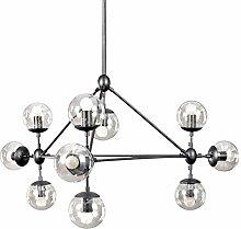 Homestia Creative-Loft 10-Glaskugel-Leuchter E27