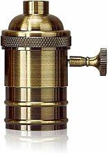 Homestia E26/E27 Screw Glühlampeeinfaßung Edison Retro- hängende Lampen-Halter mit Schalter Bronze