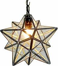Homestia Rural Penta Stereo Stern-Tropfen-hängendes Licht-Kristall-transparente Glasdeckenleuchte