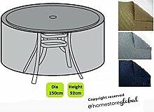Homestore Global Grand Schutzhülle für Bistro-Set/Tisch rund von–dick und hochwertige Qualität Nachhaltige 600D Polyester Leinwand mit der doppelten Nähten für mehr Festigkeit, Feuchtigkeitsregulierung