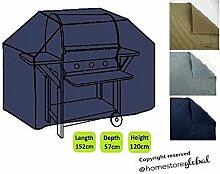 HomeStore Global groß Schutzhülle für Gasgrill, Dicke & Hochwertiges strapazierfähiges 600D Polyester Canvas mit Doppel genähte Nähte für extra Stärke, All-Wetter-beständig und anti-Feuchtigkei
