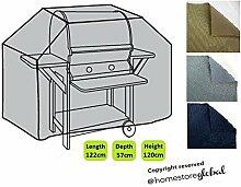 HomeStore Global klein Schutzhülle für Gasgrill, Dicke & Hochwertiges strapazierfähiges 600D Polyester Canvas mit Doppel genähte Nähte für extra Stärke, All-Wetter-beständig und anti-Feuchtigkeit-Grau