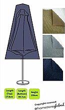 HomeStore Global, Schutzhülle für Sonnenschirm, Dicke & Hochwertiges strapazierfähiges 600D Polyester Canvas mit Doppel genähte Nähte für extra Stärke, All-wetterfest und gegen Feuchtigkeit, Größe ca.: 17,8 oben, unten 59,7 x 150 cm (H), Holzkohle