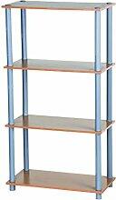 Homestyle 45428 Praktisches Regal, Storage rack, 111 x 29,5 x 60 cm