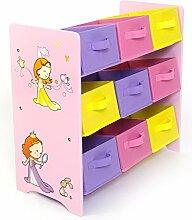 Homestyle4u 1114 Kinderregal Prinzessin ,