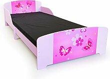 Homestyle4u 1214, Kinderbett, Motiv Schmetterling