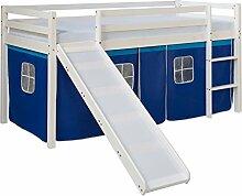 Homestyle4u 1544, Kinderbett 90x200 Weiß,