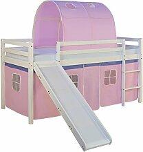 Homestyle4u 1567, Kinderbett 90x200 Weiß,