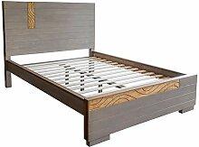 Homestyle4u 1754, Holz Doppelbett mit Lattenrost