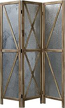 Homestyle4u 1867, Paravent Raumteiler 3 teilig,