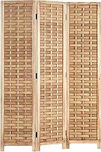 Homestyle4u 2020, Paravent Raumteiler Holz Natur