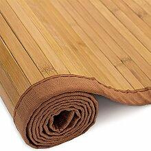 Homestyle4u 205, Bambusteppich Braun, Bambusmatte