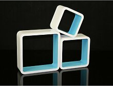 Homestyle4u 789, Wandregal 3er Set, Cube Regal,