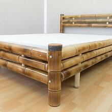 Homestyle4u 879, Bambusbett 140x200 cm,