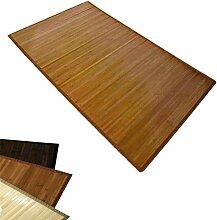 Homestyle4u Bambusteppich Bambusmatte Teppich Bambus 80 x 240 cm braun