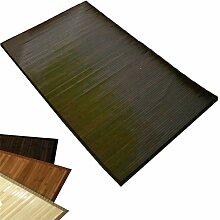 Homestyle4u Bambusteppich Bambusmatte Teppich Bambus 80 x 300 cm dunkelbraun