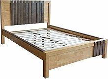 Homestyle4u Doppelbett, Holz, Natur, 30x 30x