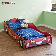 Homestyle4u Doppelbett in Racing Car Design, Holz,