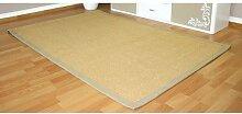 Homestyle4u Grenzen Teppich Faser Sisal Teppich