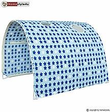 Homestyle4u Kinder Tunnel Bett mit Sport Design,