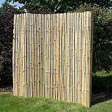 Homestyle4u Sichtschutz Sichtschutzmatte Bambusmatte Bambuszaun Gartenzaun Windschutz 200 cm x200 cm