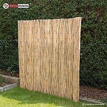 Homestyle4u Sichtschutz Sichtschutzmatte Schilfmatte Schilfzaun Gartenzaun Windschutz 500 cm x 150 cm