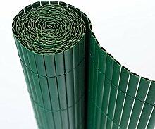 Homestyle4u Sichtschutz Zaun Windschutz Balkon Terrasse grün PVC 90x600