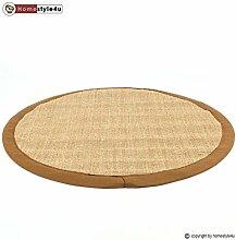 Homestyle4u Sisal Teppich Bordürenteppich Teppich