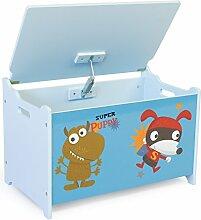 Homestyle4u Spielzeugkiste Kinder Spielkiste Schmetterling Neu Spielzeugtruhe Box