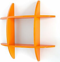 Homestyle4u Wand Retro Cube Regal Bücherregal