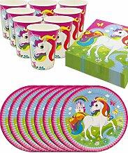 HomeTools.eu - Einhorn Unicorn Party-Geschirr Set